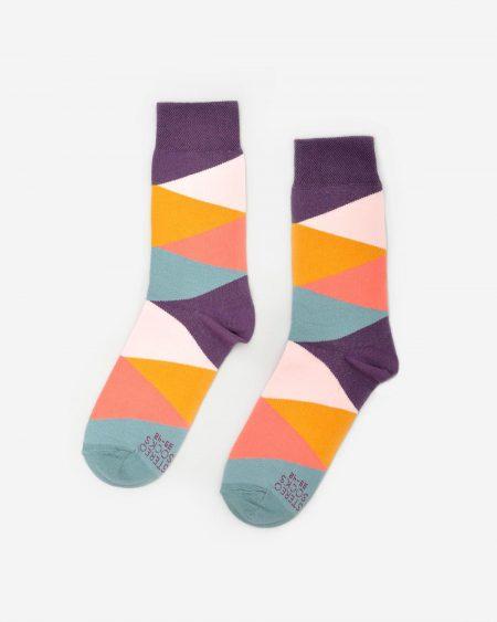 Socken mit Farbverlauf