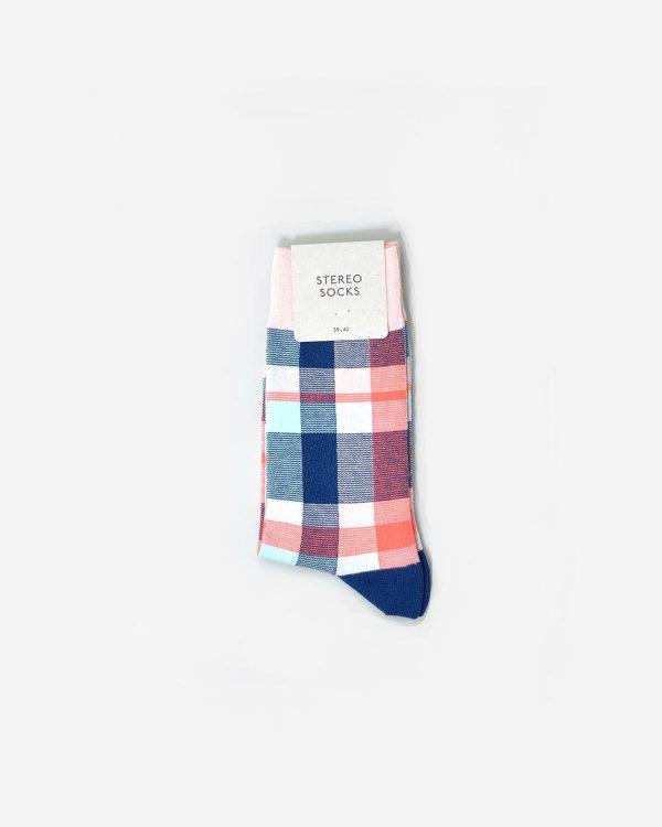 Socken mit buntem Karomuster