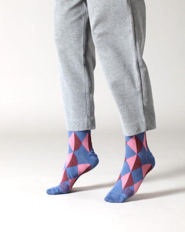 Socken mit Picassomuster