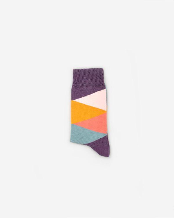 Socken mit Dreiecksmuster in fünf Farben