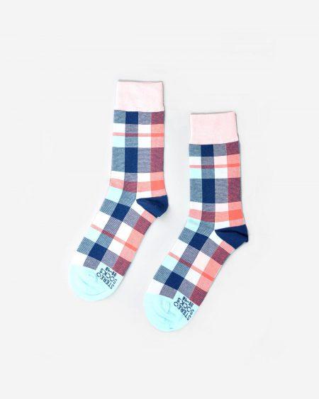 Socken mit farbigem Karomuster