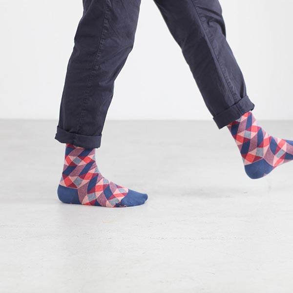 Fein gestreifte Socken