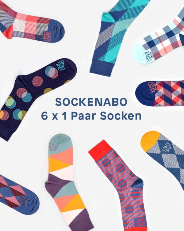 Sockenabo 6 x 1 Paar bunte Socken